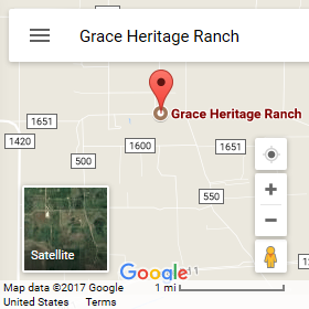 Google map directions to Grace Heritage Ranch
